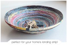 Bowl from Old Magazines! | Whimseybox