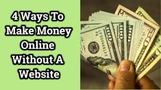 4 Ways To Make Money Online Without A Website Way To Make Money, Make Money Online, How To Make, Online Programs, Work From Home Jobs, Website, Join, Internet, Videos