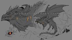 Monster Design, Monster Art, Creature Concept Art, Creature Design, Mythical Creatures Art, Fantasy Creatures, Fantasy Beasts, Fantasy Art, Fantasy Character Design