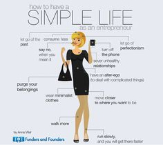 Clever Infographic Posters Offer How-To Tips Towards Success - My Modern Met how to simplify your life