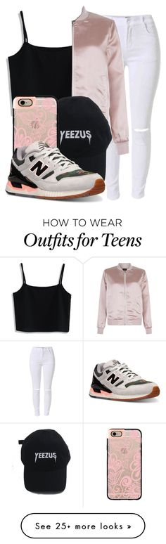 """""""Untitled #222"""" by bbgnaja on Polyvore featuring Chicwish, New Look, Casetify and New Balance"""