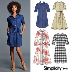 DIY shirt dress that is comfy and stylish with Simplicity pattern 8014!