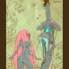 Aeon and Blue by angelavianello on deviantART
