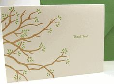 thank you branches letterpress boxed note cards