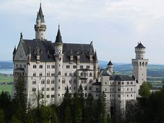 Neuschwanstein Castle  Neuschwanstein Castle is a 19th century Bavarian castle. Located in Germany, near Hohenschwangau and Füssen in southwest Bavaria, the castle was built by Ludwig II, King of Bavaria, as a retreat and as an homage to Richard Wagner, the King's inspiring muse.