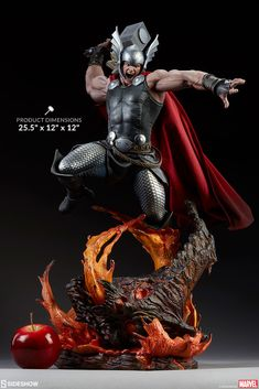 Drawing Marvel Comics Sideshow Collectibles Premium Format Figure Marvel Comics【Breaker of Brimstone】Thor:Breaker of Brimstone Marvel Art, Marvel Heroes, Marvel Characters, Poster Marvel, Marvel Statues, The Mighty Thor, Bd Comics, Custom Action Figures, Sideshow Collectibles