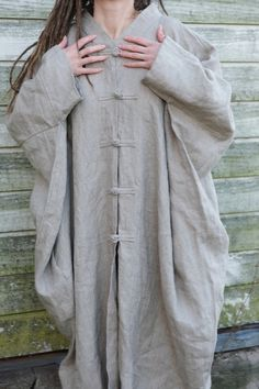 This eco friendly, extremely cosy, comfortable and natural linen poncho is ready to ship My height is The width is We can make it to the order as well In any other color Almost :) Linen Trousers, Casual Jumpsuit, Black Linen, Piece Of Clothing, Natural Linen, Cape, Personal Style, Kimono, Summer Dresses