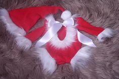 Baby girls Santa Outfit Photography Prop,Red with White fur trim,Santa hat and romper,Also In sitter sizes also,Handmade in the uk by me. Baby Girl Romper, Baby Girls, Santa Outfit, Baby Girl Christmas, White Fur, Santa Hat, Fur Trim, Photography Props, Christmas Stockings