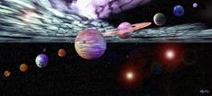 Our Solar System via MuralsYourWay.com