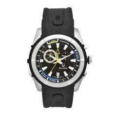 Bulova Men's 65B116 Black Rubber Black Dial Yachting Watch; Price: $895.00