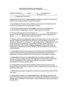 The Free Sample Independent Contractor Agreement Form is intended to be an easy-to-use, quick-to-complete form that will inform you of your rights and Marketing Plan Example, Custom Return Address Labels, Document Sign, Contract Agreement, Event Planning Template, Templates Printable Free, Free Printables, Letter Sample, The Covenant
