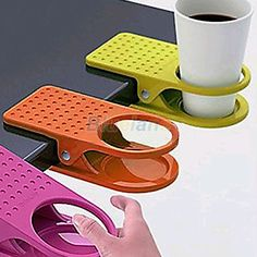Home Office Room Drink Cup Coffee Holder Water Stand Clip Desk Table Multicolour #Sanerrystore