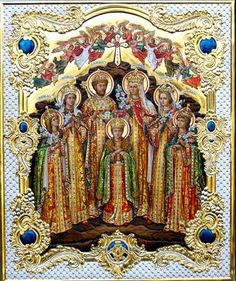 Beautiful icon of the Imperial Family
