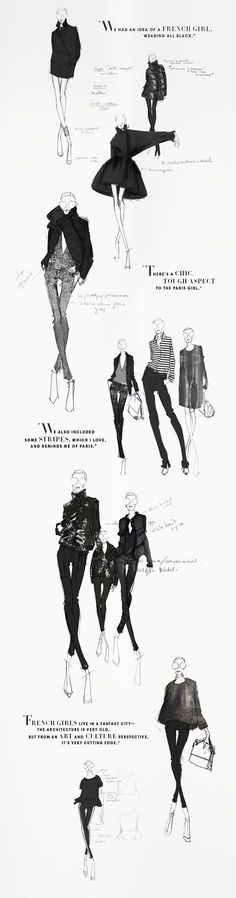 Beautiful sketches from the Joe Fresh sketchbook - Winter 2013. JOEFRESH.COM #fashionsketchbook,