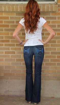 Citizens of Humanity~COH~Ingrid Low Rise Flare~Wonderland Jeans~26~$202 #CitizensofHumanity #Flare