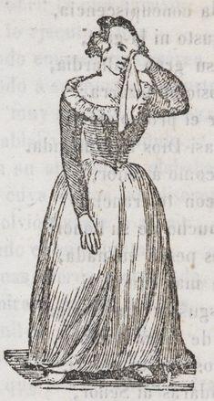 Mujer que seca sus lágrimas con un pañuelo.