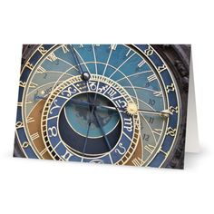 Clock 5x7 Blank Greeting Card Perfect for all occasions ($3.51) ❤ liked on Polyvore featuring home and home decor