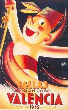 Cartel Fallas Valencia año 1952