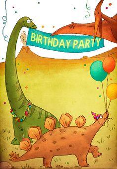 Dinosaurs Birthday Party - Free Printable Birthday Invitation Template | Greetings Island