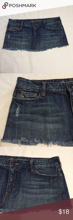 Abercrombie & Fitch Jean Skirt Size 6 Z Abercrombie & Fitch Skirts Mini
