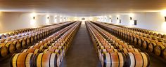 Mouton Rothschild: The Great Barrel Hall: The Grand Chai can hold up to 1,000 oak casks on a single level.