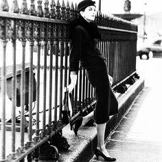 Anne Saint Marie in Balenciaga, 1955