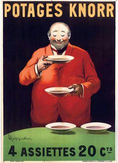 I picked this because he loved soup.  Leonetto Cappiello (1875 - 1942) was an…