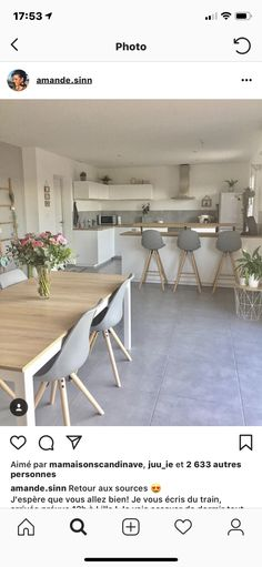 Haus bungalow Ohne Titel Get Rid Of Moss And Algae For Good It's green; Small Open Plan Kitchens, Open Plan Kitchen Living Room, Kitchen Dining Living, Small Living Rooms, Home Decor Kitchen, Kitchen Interior, Dining Room Design, Dining Room Furniture, Interior Design Living Room