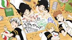 fukurodani, children, sleeping