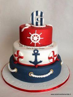 Nautical themed birthday cake