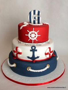 Nautical themed birthday cake