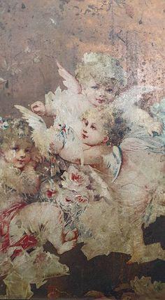Garden Angels, Angels Among Us, White Doves, Angel Art, Retro, Vintage Flowers, Vintage Prints, Vintage Christmas, Images