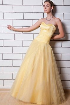 Yellow Tulle Ball Gown Celebrity Dress sfp1434 - http://www.shopforparty.com/yellow-tulle-ball-gown-celebrity-dress-sfp1434.html - COLOR: Yellow; SILHOUETTE: Ball Gown; NECKLINE: Sweetheart; EMBELLISHMENTS: Ruched; FABRIC: Tulle - 188USD