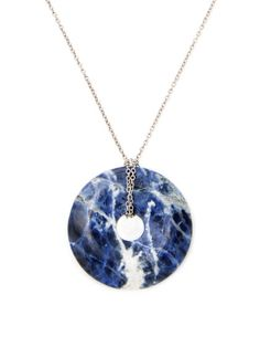 Sodalite Pendant Necklace by Alanna Bess Jewelry at Gilt