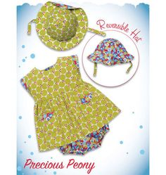Kwik Sew 3907 from Kwik Sew patterns is a Precious Peony Baby Hat and Dress sewing pattern Baby Clothes Patterns, Baby Patterns, Sewing For Kids, Baby Sewing, Sew Baby, Sundress Pattern, Kwik Sew Patterns, Vinyl Fabric, Heirloom Sewing