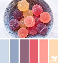 Colour palette from Design Seeds. Hue Color, Colour Pallette, Color Palate, Colour Schemes, Color Combos, Pastel Colour Palette, Summer Color Palettes, Purple Colors, Color Pick