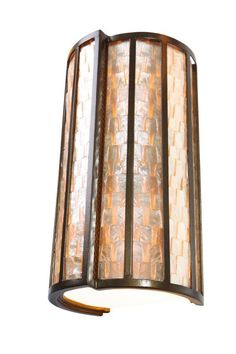 "Varaluz 175W02 2 Light 8"" Wide Sustainable Shell Affinity Sconce from the Affini New Bronze Indoor Lighting Wall Sconces Wall Sconces"