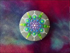 Stop Motion of a Jewel Drop Mandala being created, painted by Elspeth McLean, music by Adam Dobres
