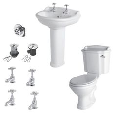 Cooke & Lewis Romsey Toilet, Basin & Tap Pack (Instore Only), 5397007031218