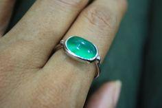 Prehnite ring Prehnite with epidote ring Round Green by ANRUSHA, $149.00