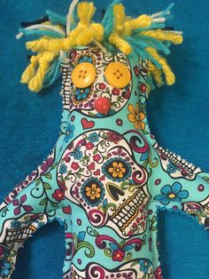 A personal favorite from my Etsy shop https://www.etsy.com/listing/246483616/sugar-skull-dammit-doll-day-of-the-dawn