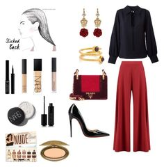 """""""Elegant woman"""" by mihaelamihu ❤ liked on Polyvore featuring Boohoo, See by Chloé, Dolce&Gabbana, Prada, Christian Louboutin, Lizzie Fortunato, Bare Escentuals, NARS Cosmetics, Marc Jacobs and Giorgio Armani"""