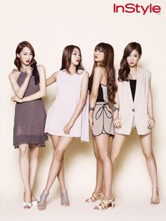 Sistar for Instyle, Group Shot 2 Kpop Girl Groups, Korean Girl Groups, Kpop Girls, Mamamoo, Kpop Fashion, Korean Fashion, Sistar Kpop, Sistar 19, Yoon Bora