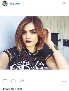 Lucy Hale's bob. Cut. Color. Everything about this.