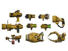 Ratchet and Clank - Gold Weapons by o0DemonBoy0o.deviantart.com on @DeviantArt