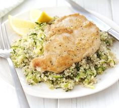 Chicken with lemon and courgette couscous http://www.bbcgoodfood.com/recipes/333612/chicken-with-lemon-and-courgette-couscous