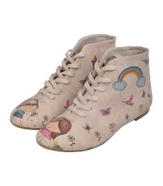 Dogo PICKED FLOWERS - Lace-up boots - ecru 45,00 €