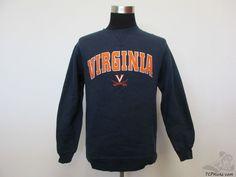 Vtg 90s Team Edition Virginia Cavaliers Crewneck Sweatshirt sz S Small SEWN NCAA #TeamEdition #VirginiaCavaliers #tcpkickz