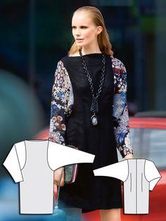 Passport to Japan: Contrast Tunic Dress Burda Sep 2013 #108