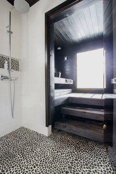 a wonderful design ideas for your own home sauna Saunas, Diy Bathroom Decor, Modern Bathroom, Small Bathroom, Sauna Seca, Beddinge, Sauna Design, Spa Rooms, Home Spa